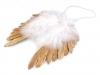 Andělská křídla metalická 19x19 cm (1 ks)