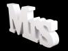 3D dekorace Mr a Mrs (1 sada)