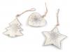 Kovová vánoční hvězda, srdce, stromek (1 ks)