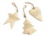 Kovová vánoční dekorace - srdce, stromek, hvězda (1 ks)