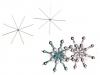 Vánoční hvězda - drátová šablona Ø9 cm (2 ks)