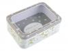 Plechová krabička s průhledem velká (1 ks)