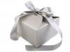 Papírová krabička 8,5x12,5x12,5 cm se stuhou 2. jakost (1 ks)