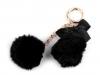 Kožešinový přívěsek na kabelku / klíče (1 ks)