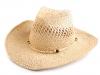 Kovbojský klobouk / slamák (1 ks)