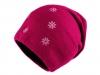Dívčí zimní čepice s vločkami, svěšená (1 ks)