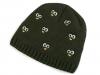 Dětská zimní čepice s výšivkou očí (1 ks)