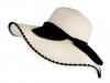 Dámský klobouk / slamák s mašlí (1 ks)