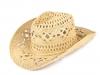 Kovbojský klobouk / slamák k dozdobení (1 ks)
