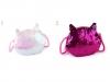 Dětská kabelka kočka s oboustrannými měnícími flitry 16x17 cm (1 ks)