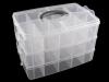 Velký plastový zásobník / kufřík rozkládací 3 patra (1 ks)