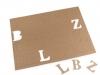 Papírová čísla a písmena (1 karta)