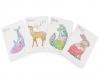 Sešit / zápisník linkovaný velký liška, jelen, zajíc, velryba Languo 18,5x26 cm (1 ks)