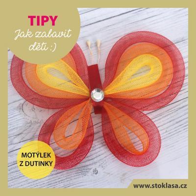 tip - motýlek z dutinek