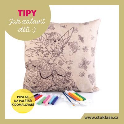 tip - malovaný polštářek