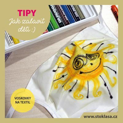 tip - voskovky na textil